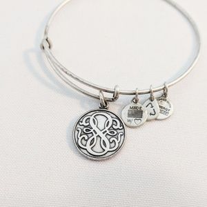 "Alex and Ani Solid ""Path of Life"" Silver Bracelet"